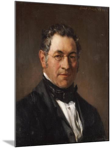 Portrait of Professor Siegfried Dehn (1799-1858)-Adolf Von Menzel-Mounted Giclee Print