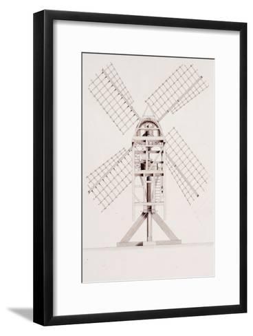 Drawings for Windmills, Dated 1814-17-John Farey, Jr-Framed Art Print