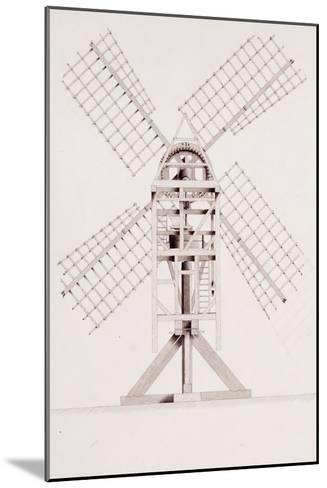 Drawings for Windmills, Dated 1814-17-John Farey, Jr-Mounted Giclee Print