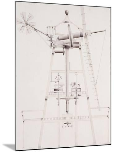 Drawings for Windmills, Dated 1814-17-John Farey, Jr-Mounted Giclee Print