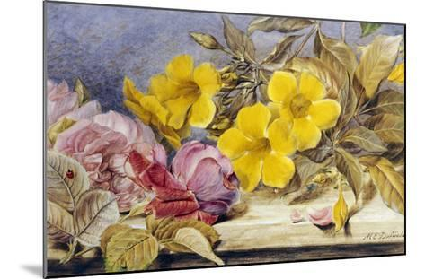 A Still Life of Roses and Other Flowers on a Ledge-Mary Elizabeth Duffield-Mounted Giclee Print