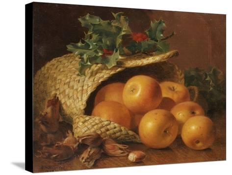 Still Life with Apples, Hazelnuts and Holly, 1898-Eloise Harriet Stannard-Stretched Canvas Print