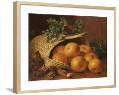 Still Life with Apples, Hazelnuts and Holly, 1898-Eloise Harriet Stannard-Framed Art Print