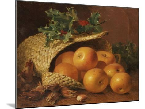 Still Life with Apples, Hazelnuts and Holly, 1898-Eloise Harriet Stannard-Mounted Giclee Print