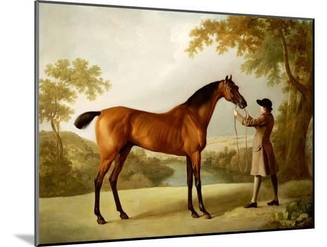 Tristram Shandy, a Bay Racehorse Held by a Groom in an Extensive Landscape, circa 1760-George Stubbs-Mounted Giclee Print
