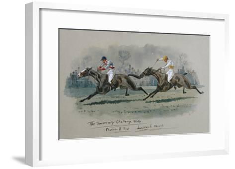 The University Challenge Whip, Feb 1909. W. G. Longe (Early 20th Century)-W.g. Longe-Framed Art Print