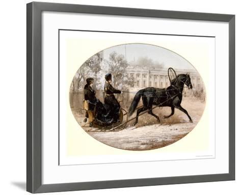 Winter Scene in St. Petersburg-Adolphe Jossifovich Charlemagne-Framed Art Print