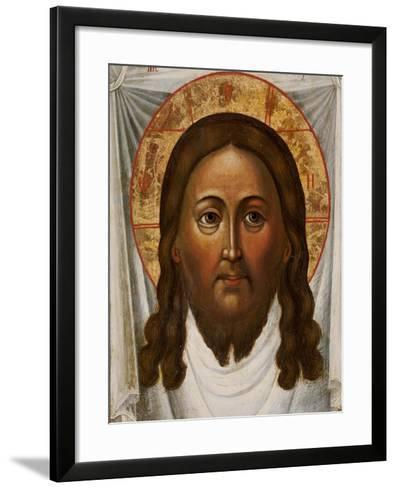 The Mandylion, the Face of the Saviour on a White Kerchief, Moscow, 1742--Framed Art Print