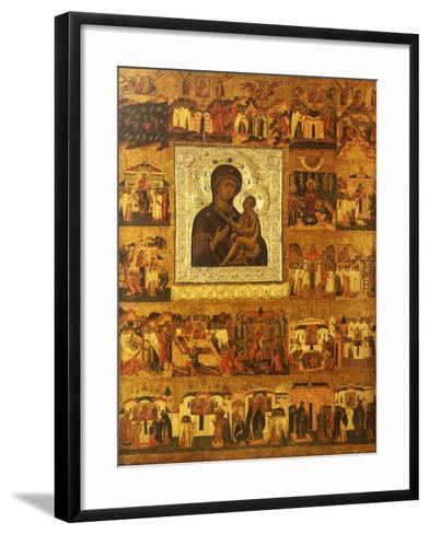 Icon of the Mother of God Tikhvinskaia, Central Russia, First Half of the 17th Century--Framed Art Print