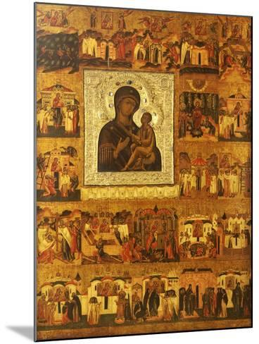 Icon of the Mother of God Tikhvinskaia, Central Russia, First Half of the 17th Century--Mounted Giclee Print