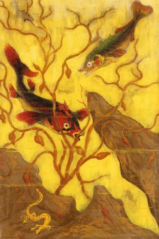 Poissons, and Crustaces, 1902-Paul Ranson-Stretched Canvas Print