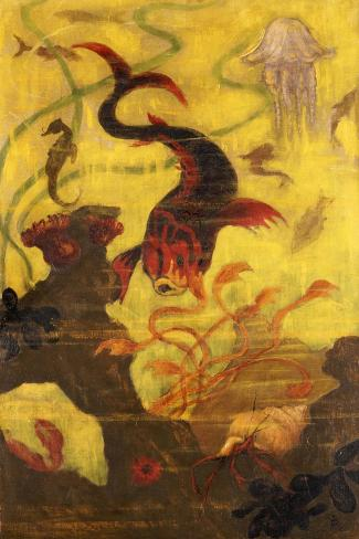 Poissons et Crustacaes, circa 1902-Paul Ranson-Stretched Canvas Print
