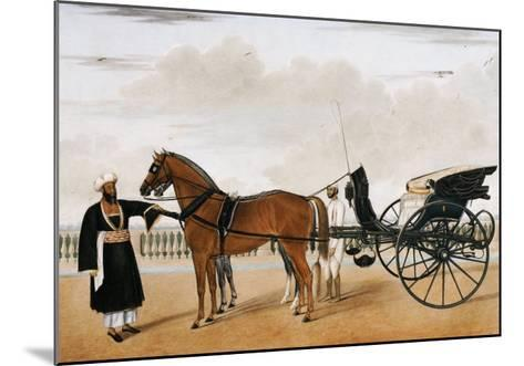 A Nawab Standing by His Horse Drawn Gharry or Carriage Attended by His Groom Bearing a Chauri-Shaikh Muhammad Amir Of Karraya-Mounted Giclee Print