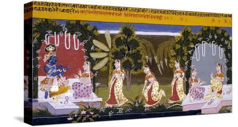 Illustration to the Gita Gorinda, Mewar 1720-1730--Stretched Canvas Print