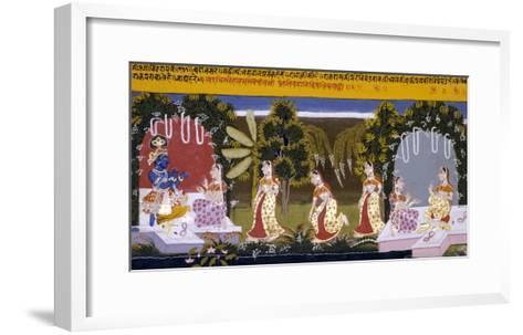 Illustration to the Gita Gorinda, Mewar 1720-1730--Framed Art Print