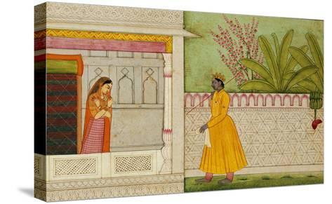 The Sinned Against, Illustration to the Rasikapriya of Keshav Das circa 1750-1760--Stretched Canvas Print
