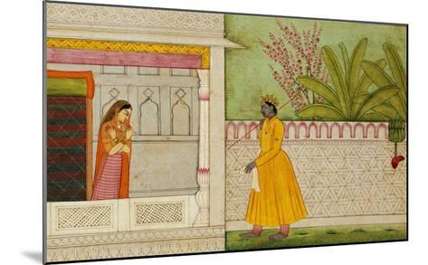 The Sinned Against, Illustration to the Rasikapriya of Keshav Das circa 1750-1760--Mounted Giclee Print
