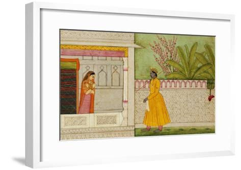 The Sinned Against, Illustration to the Rasikapriya of Keshav Das circa 1750-1760--Framed Art Print