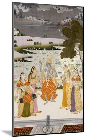 Krishna with the Gopis, Rajesthan, Possibly Bikaner, circa 1760--Mounted Giclee Print
