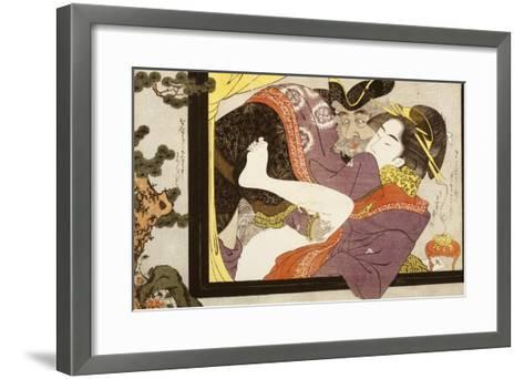 Erotic Scene Eishi School--Framed Art Print