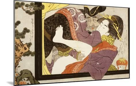 Erotic Scene Eishi School--Mounted Giclee Print