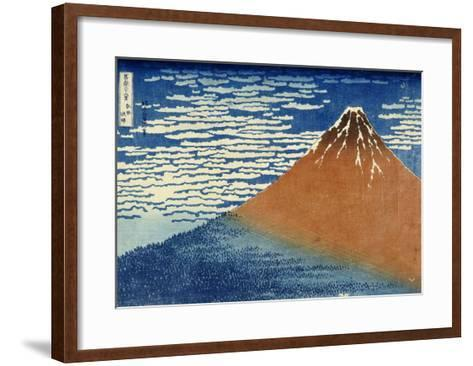Fine Wind, Clear Weather-Katsushika Hokusai-Framed Art Print