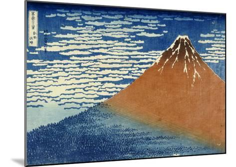 Fine Wind, Clear Weather-Katsushika Hokusai-Mounted Giclee Print