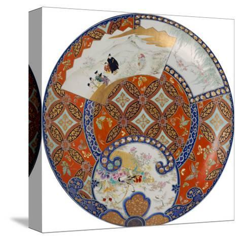 A Very Large Imari Dish Decorated in Various Coloured Enamels, 19th Century--Stretched Canvas Print
