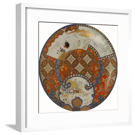 A Very Large Imari Dish Decorated in Various Coloured Enamels, 19th Century--Framed Art Print