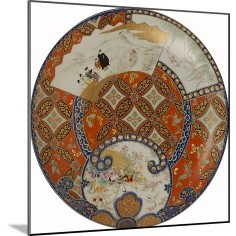 A Very Large Imari Dish Decorated in Various Coloured Enamels, 19th Century--Mounted Giclee Print