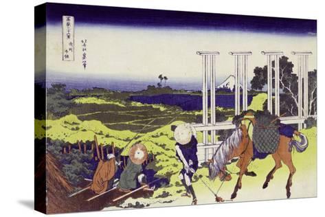 Senju in Musashi Province-Katsushika Hokusai-Stretched Canvas Print