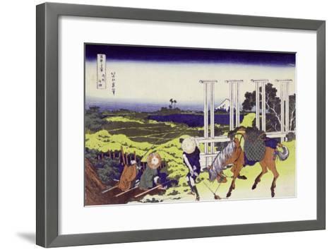 Senju in Musashi Province-Katsushika Hokusai-Framed Art Print