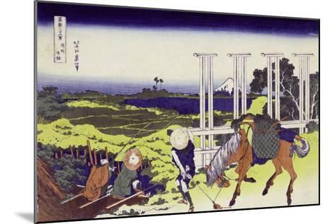 Senju in Musashi Province-Katsushika Hokusai-Mounted Giclee Print