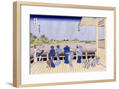 Sazai Hall of Five-Hundred-Rakan Temple-Katsushika Hokusai-Framed Art Print