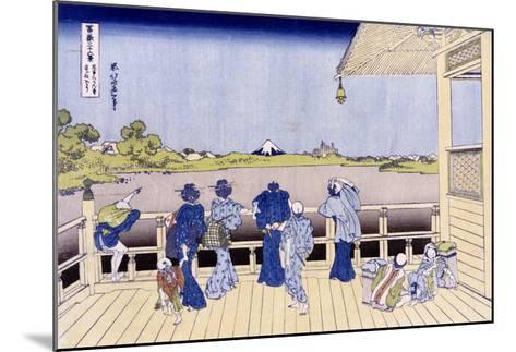 Sazai Hall of Five-Hundred-Rakan Temple-Katsushika Hokusai-Mounted Giclee Print