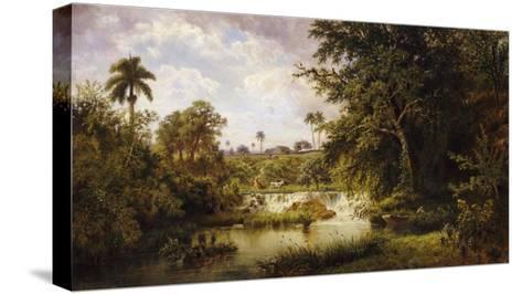 Landscape with CowsPaisaje Con Vacas, 1882-Esteban Chartrand-Stretched Canvas Print