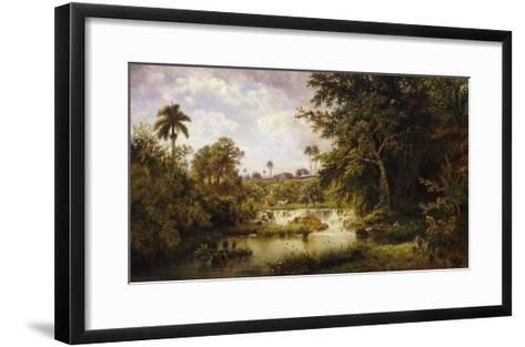 Landscape with CowsPaisaje Con Vacas, 1882-Esteban Chartrand-Framed Art Print
