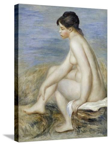 A Seated Bather-Pierre-Auguste Renoir-Stretched Canvas Print