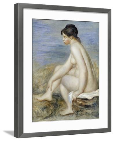 A Seated Bather-Pierre-Auguste Renoir-Framed Art Print