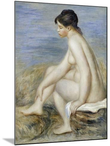 A Seated Bather-Pierre-Auguste Renoir-Mounted Giclee Print