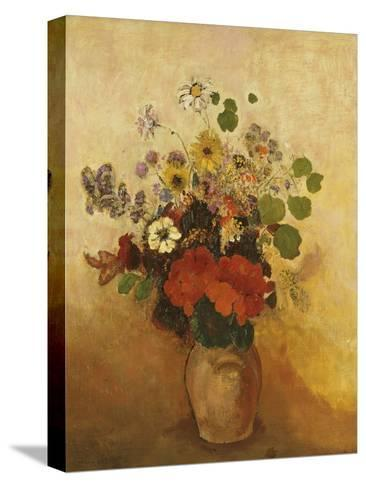 Vase of Flowers-Odilon Redon-Stretched Canvas Print