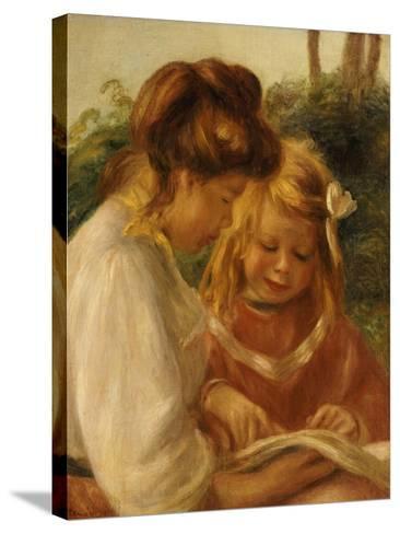 The Alphabet, Jean and Gabrielle-Pierre-Auguste Renoir-Stretched Canvas Print