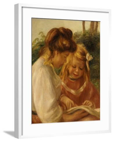 The Alphabet, Jean and Gabrielle-Pierre-Auguste Renoir-Framed Art Print