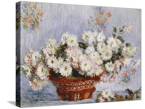 Chrysanthemums-Claude Monet-Stretched Canvas Print