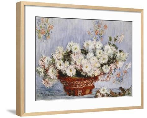 Chrysanthemums-Claude Monet-Framed Art Print