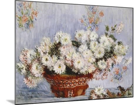 Chrysanthemums-Claude Monet-Mounted Giclee Print