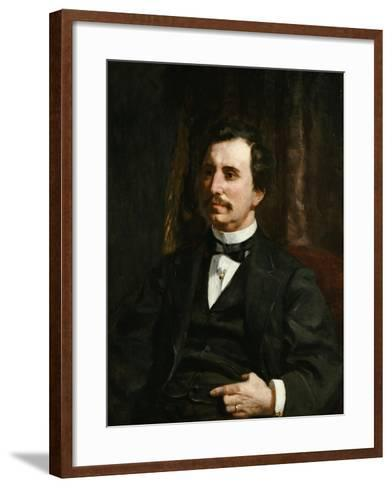 Portrait Du Colonel Barton Howard Jenks-Pierre-Auguste Renoir-Framed Art Print