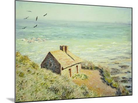 The Customs Hut, Morning, 1882-Claude Monet-Mounted Giclee Print