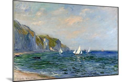 Cliffs and Sailboats at Pourville-Claude Monet-Mounted Giclee Print