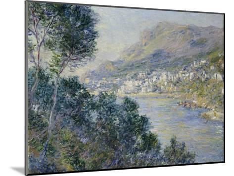 A View of Cape Martin, Monte Carlo-Claude Monet-Mounted Giclee Print